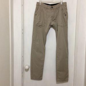 Pants - Oakley womans 30/32 tan cotton pants.